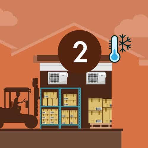 Stockage des marchandises dans l'entrepôt logistique