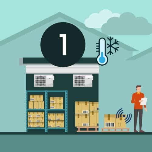Stockage des produits en entrepôt logistique sous température dirigée